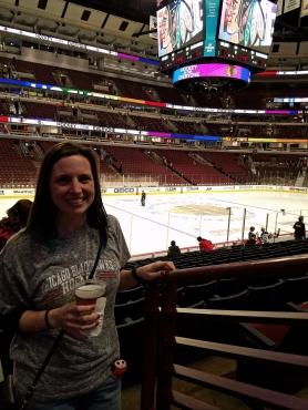 Chicago Blackhawks game selfie