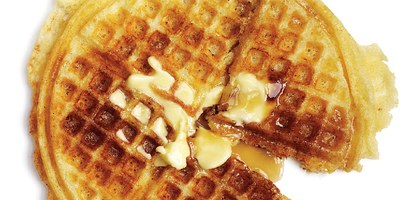 butter, waffles, breakfast