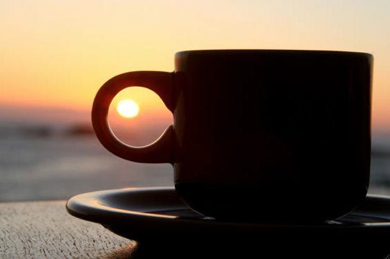 coffee, sun, morning