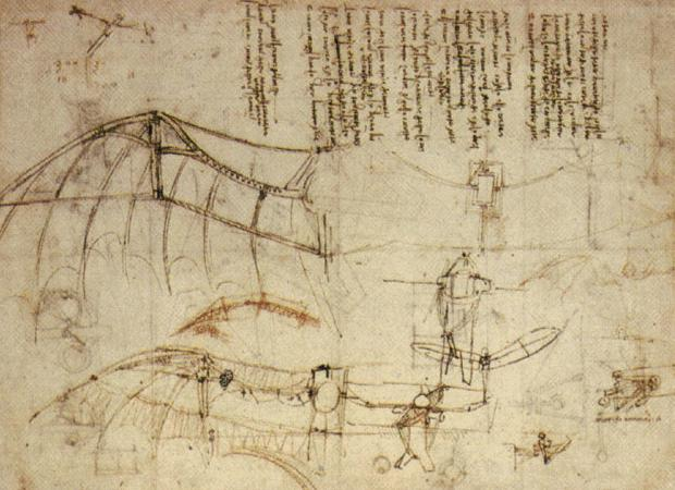 Leonardo da Vinci, flying machine, invention
