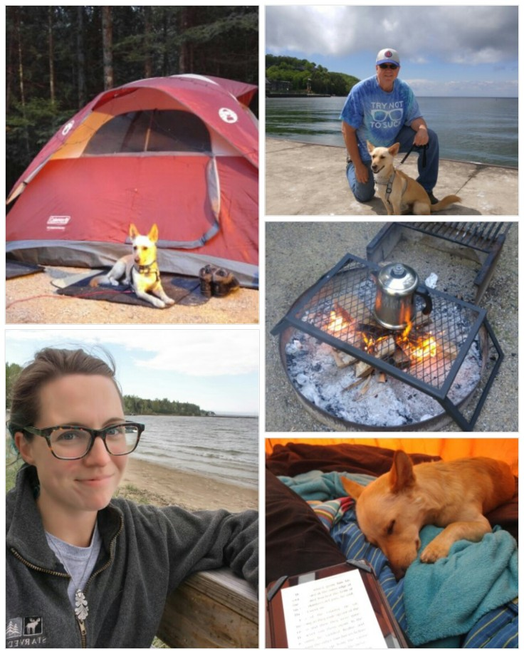 camping, coffee, Wisconsin, dogs