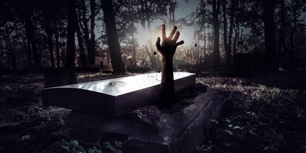 zombie, graveyard, sppoky