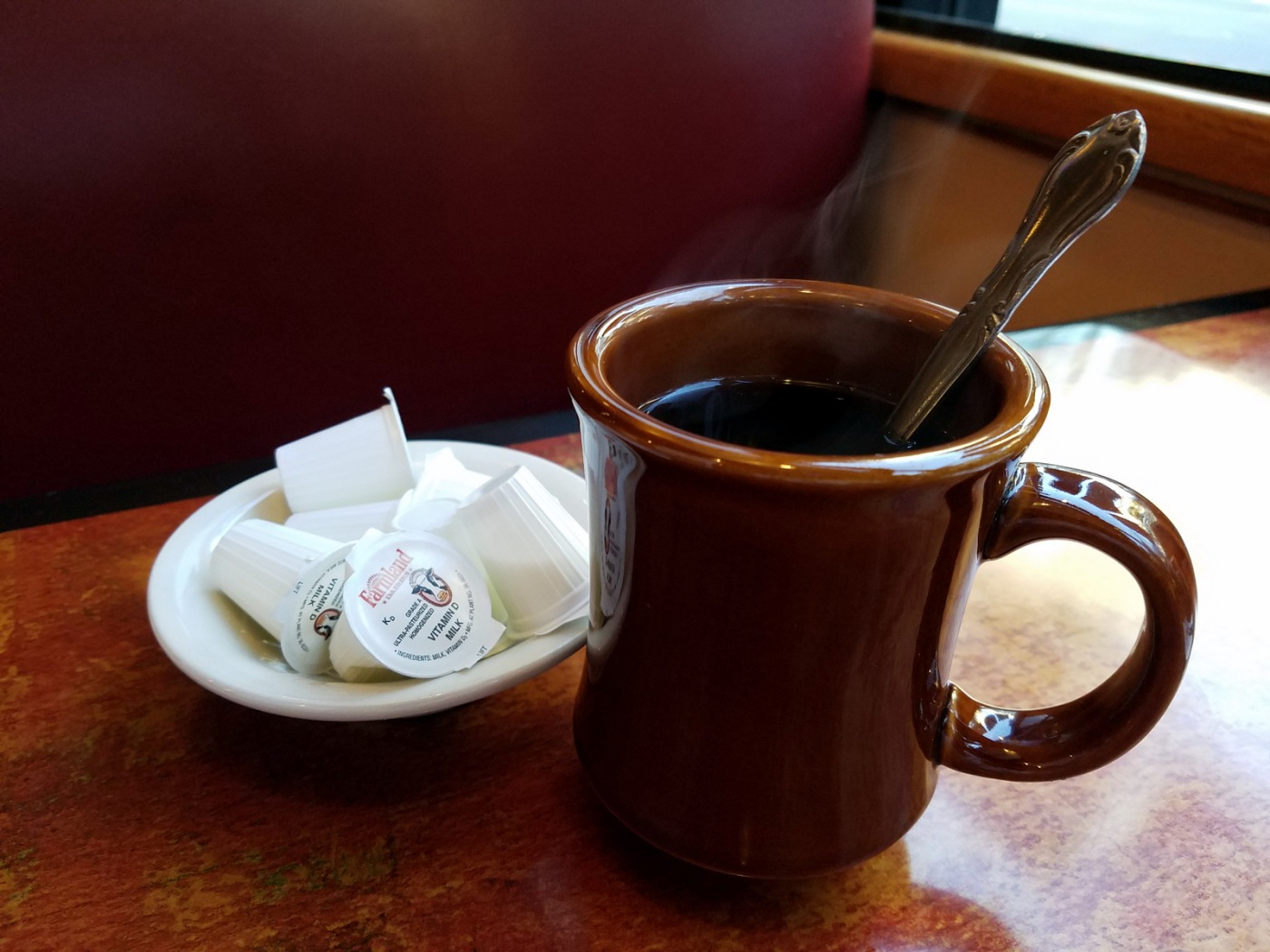 coffee, diner, black coffee
