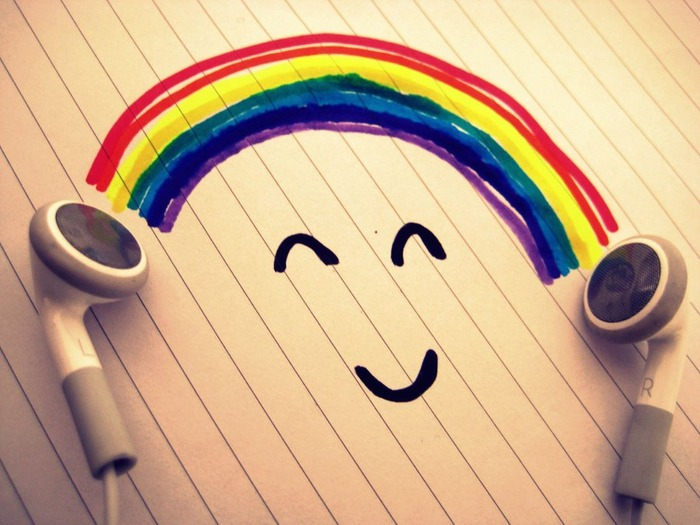 happy, smile, rainbow, sunshine