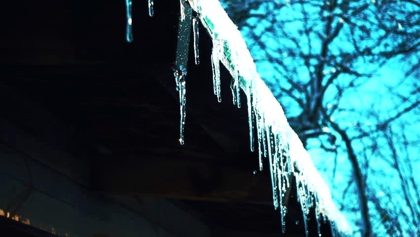 ice, icicles, blue melting